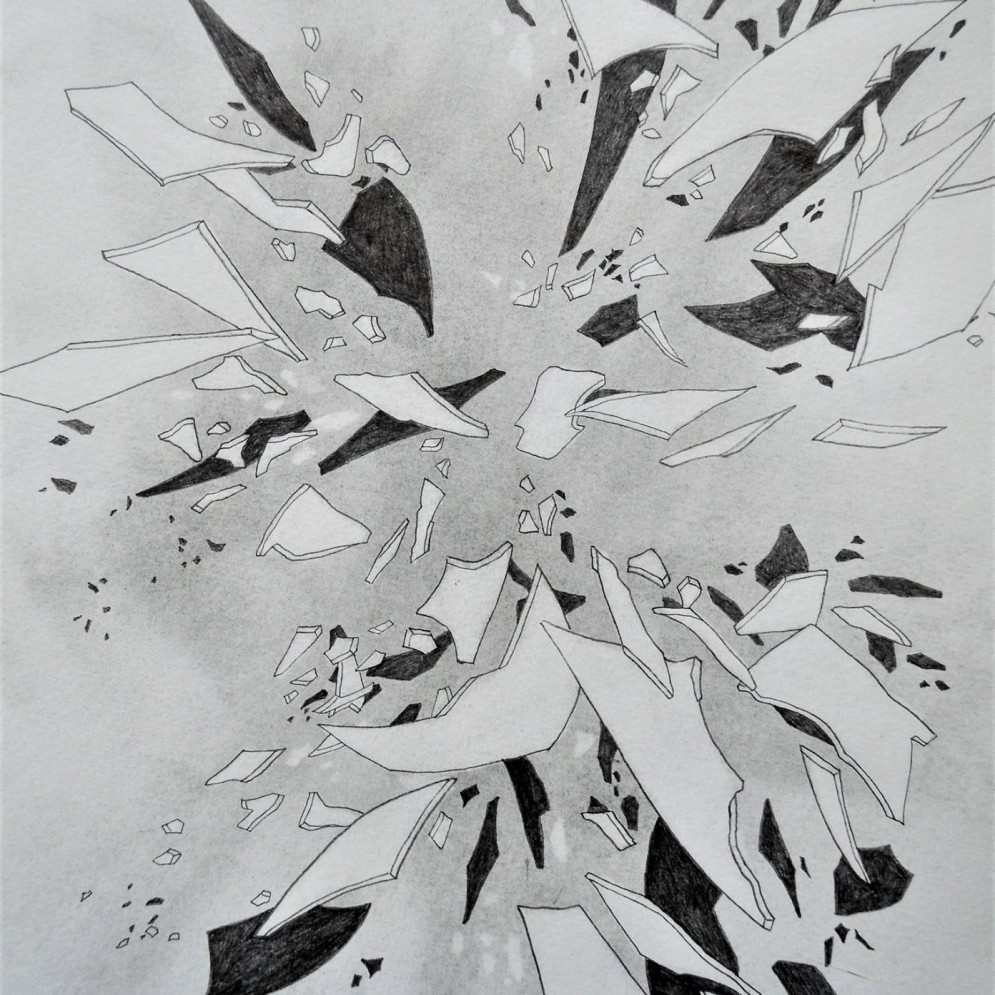 Ohne Titel ^Graphit und Bleistift auf Papier ^25 x 30cm