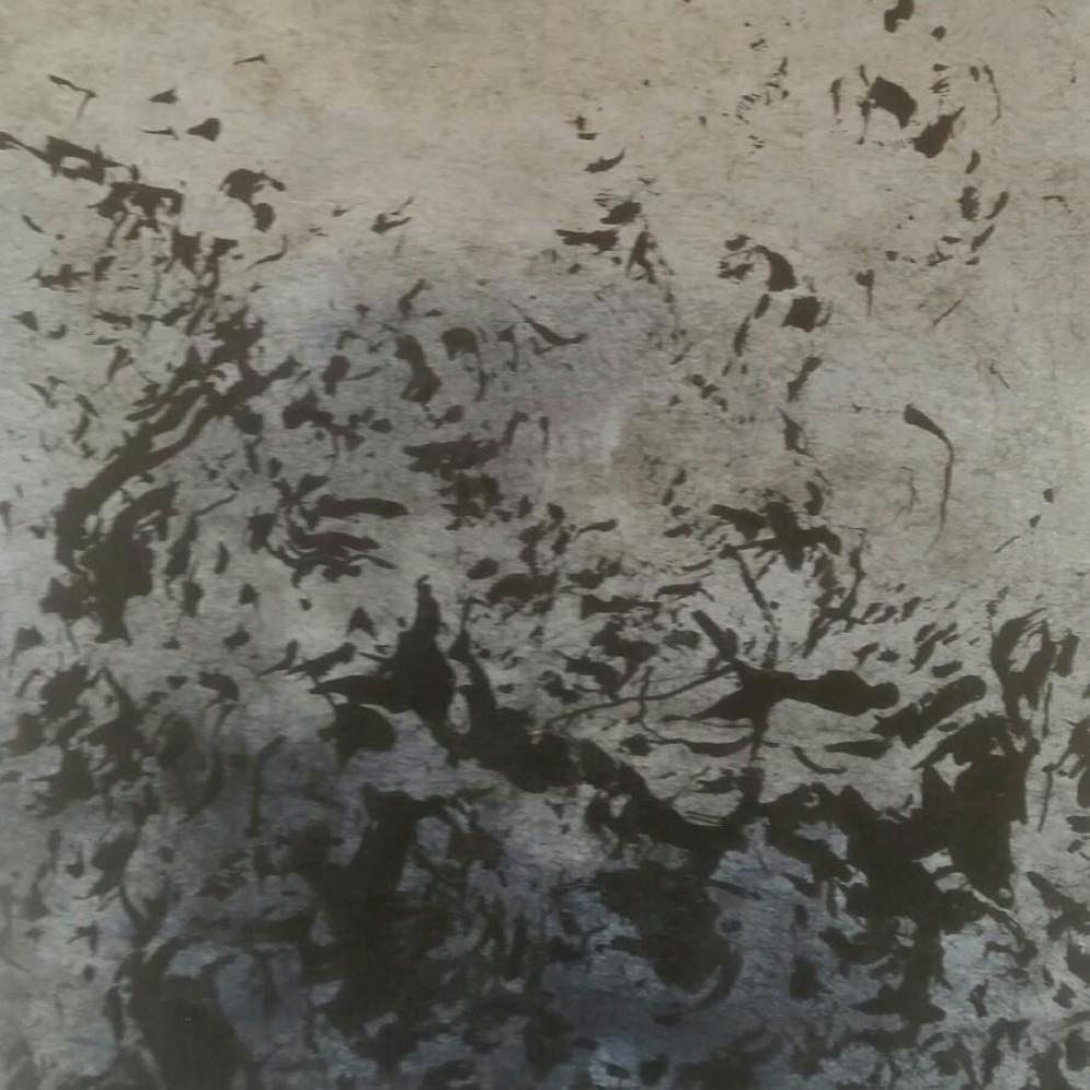 ohne Titel    Pigment und Tusche 13x16cm